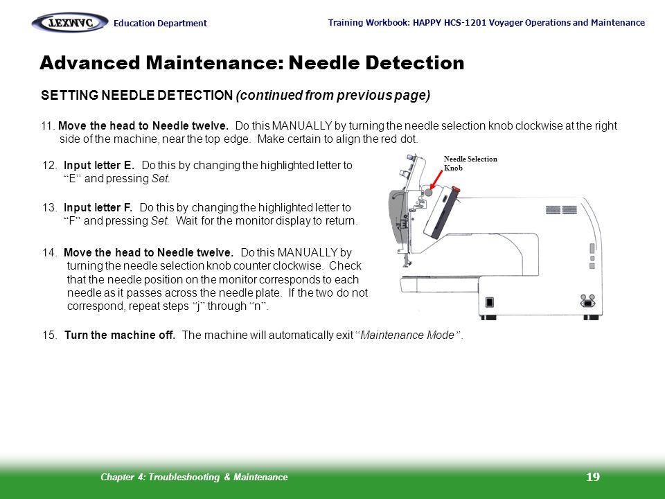 Advanced Maintenance: Needle Detection