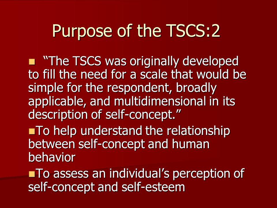 Purpose of the TSCS:2