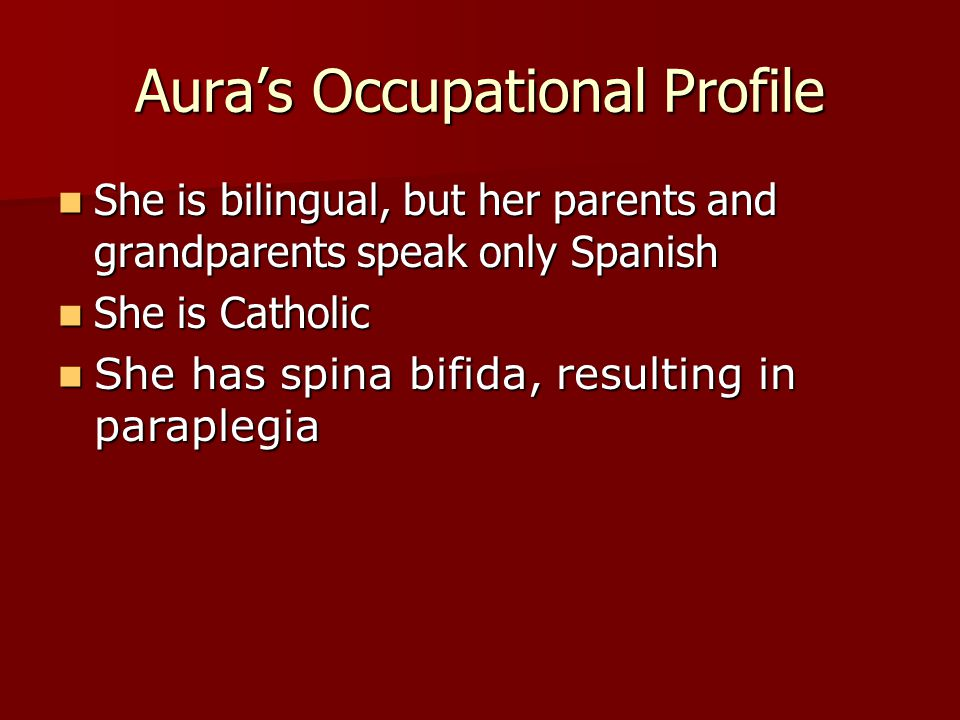 Aura's Occupational Profile