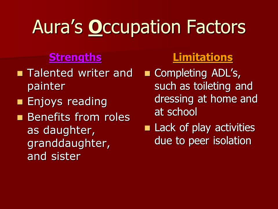 Aura's Occupation Factors