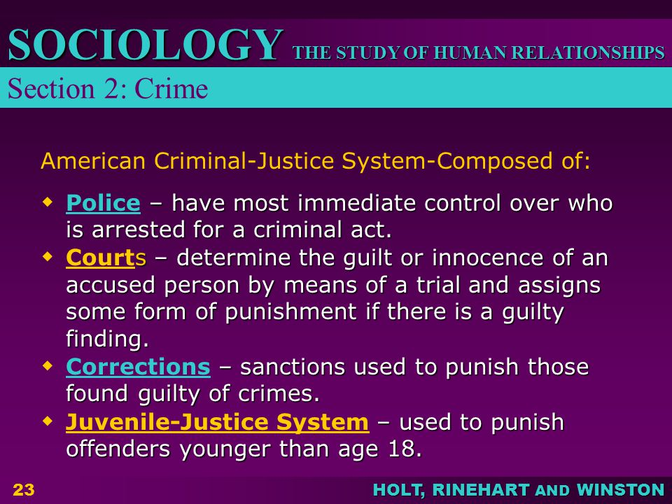 American Criminal-Justice System-Composed of: