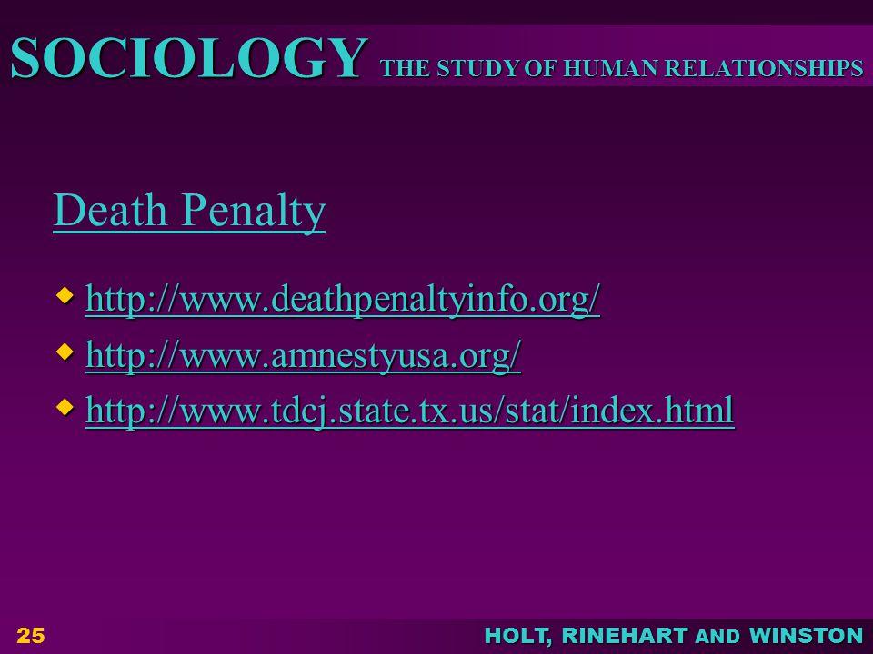 Death Penalty http://www.deathpenaltyinfo.org/