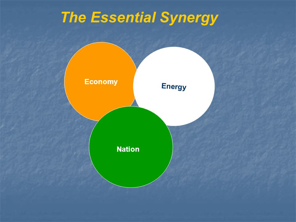 The Essential Synergy Economy Energy Nation