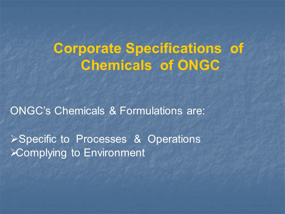 Corporate Specifications of