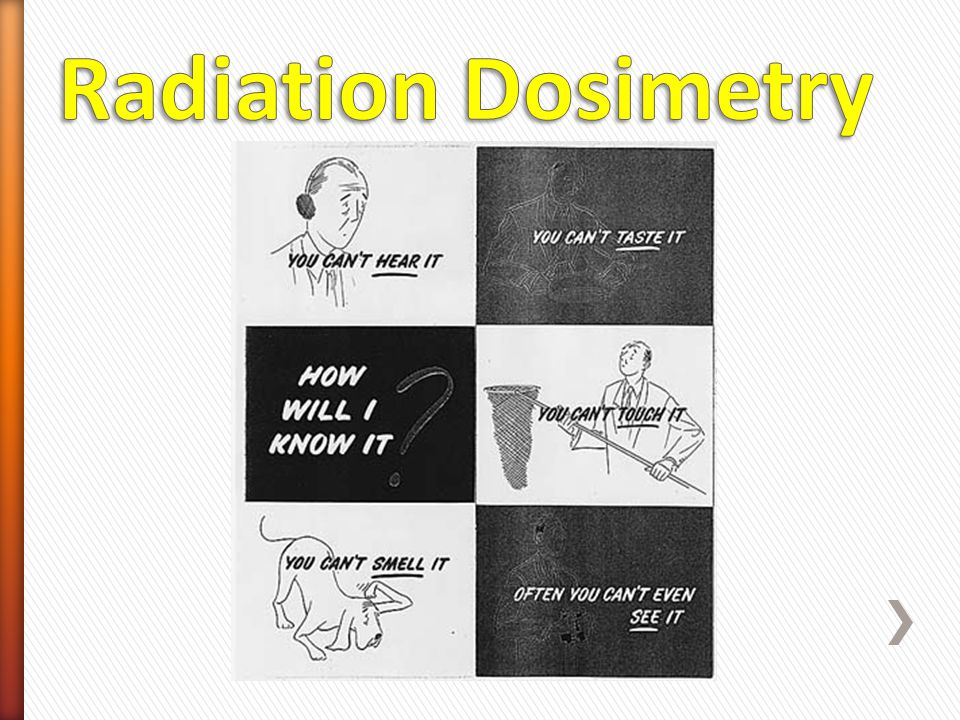 Radiation Dosimetry Dosimetry devices are passive monitor equipment. They provide data as to the exposure after it has occurred.