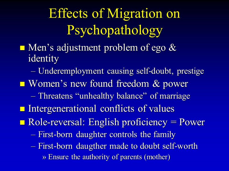Effects of Migration on Psychopathology