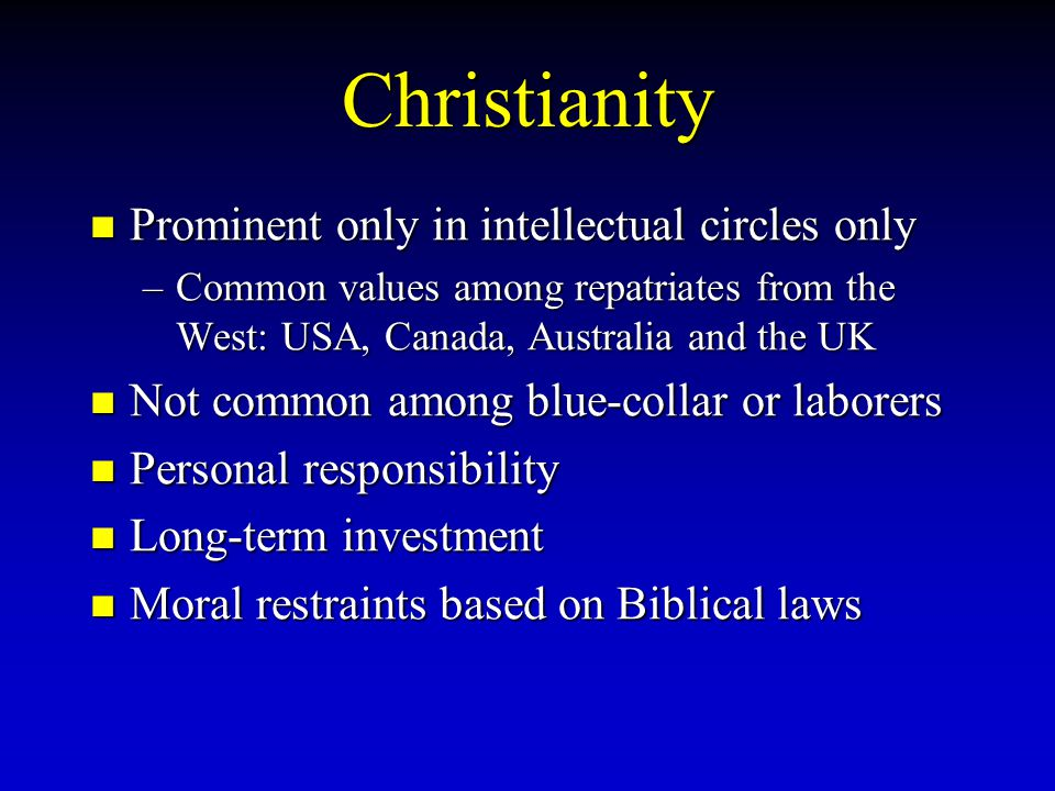 Christianity Prominent only in intellectual circles only