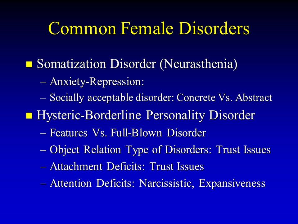 Common Female Disorders