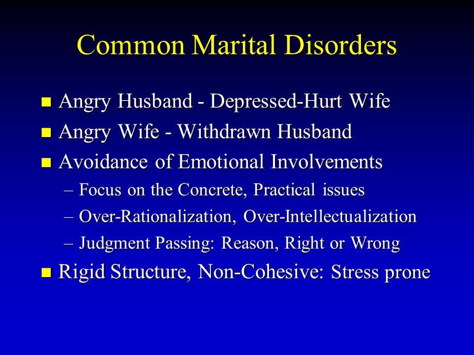 Common Marital Disorders