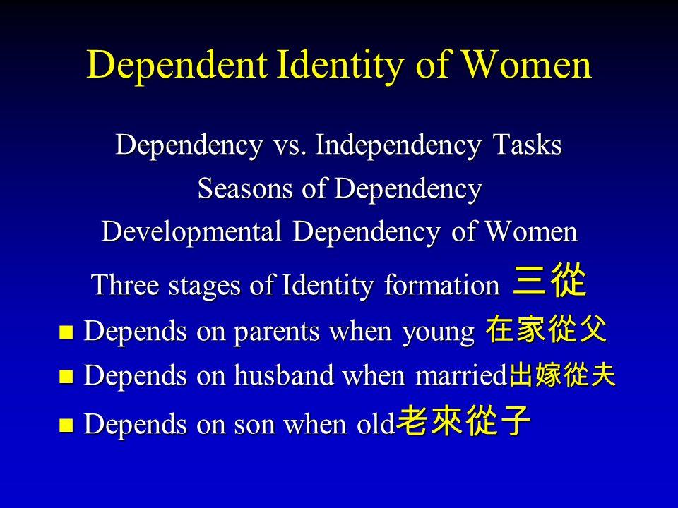 Dependent Identity of Women