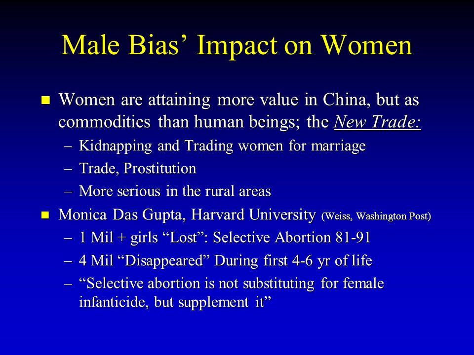 Male Bias' Impact on Women