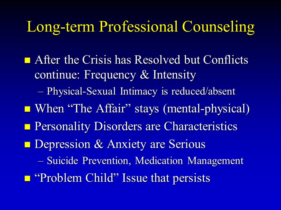 Long-term Professional Counseling