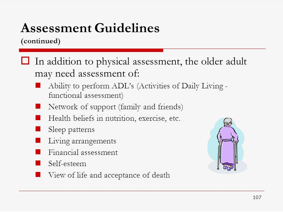 Assessment Guidelines (continued)