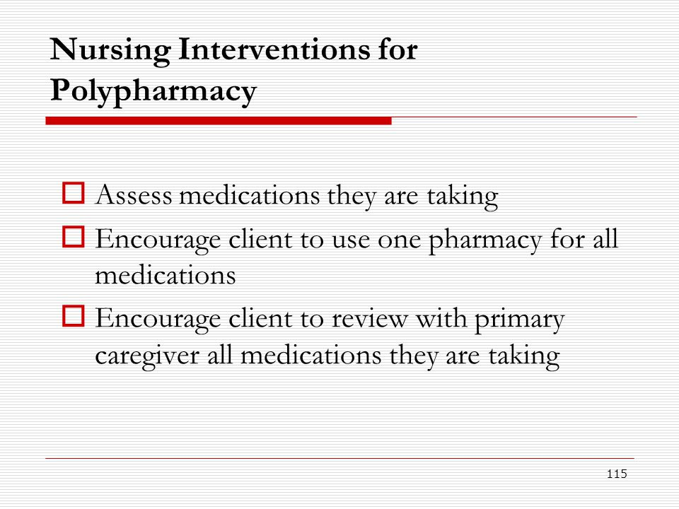 Nursing Interventions for Polypharmacy