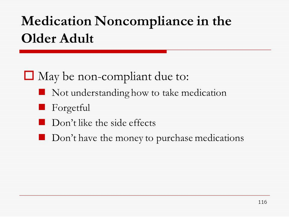 Medication Noncompliance in the Older Adult