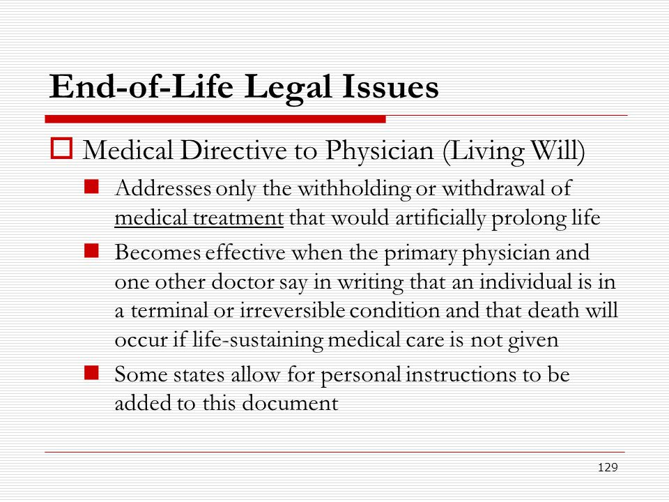 End-of-Life Legal Issues