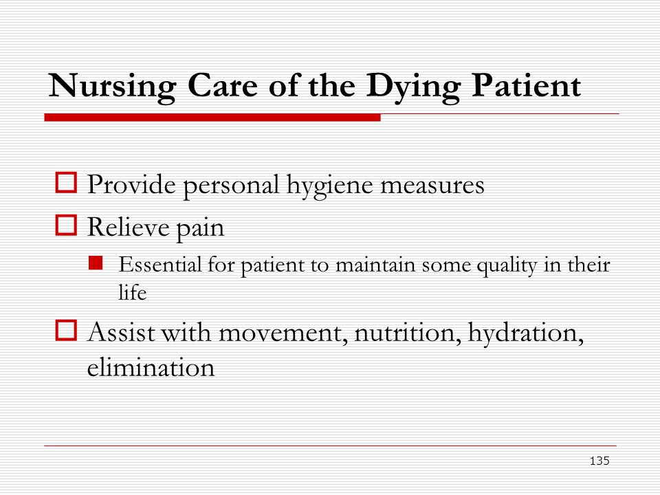 Nursing Care of the Dying Patient