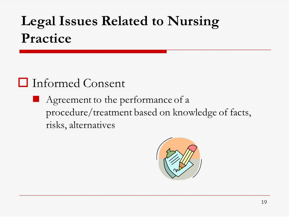 Legal Issues Related to Nursing Practice