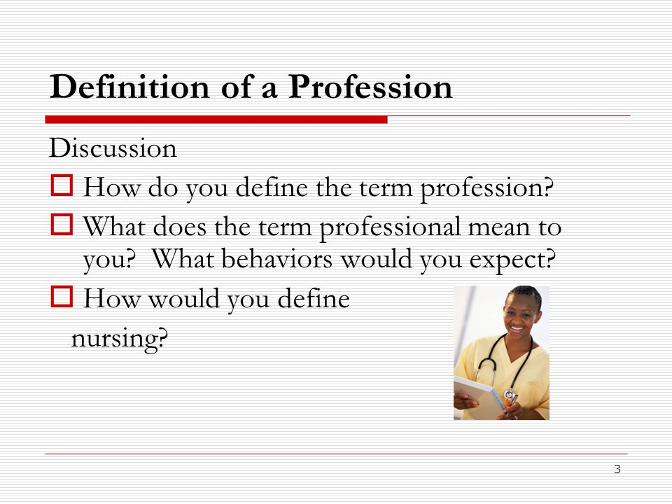 Definition of a Profession
