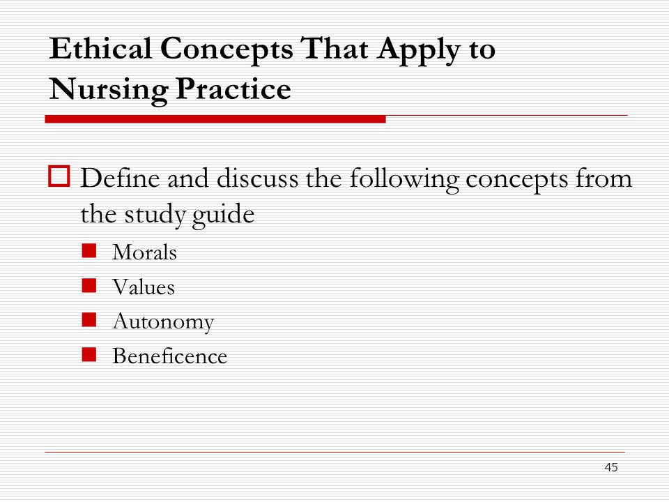 Ethical Concepts That Apply to Nursing Practice