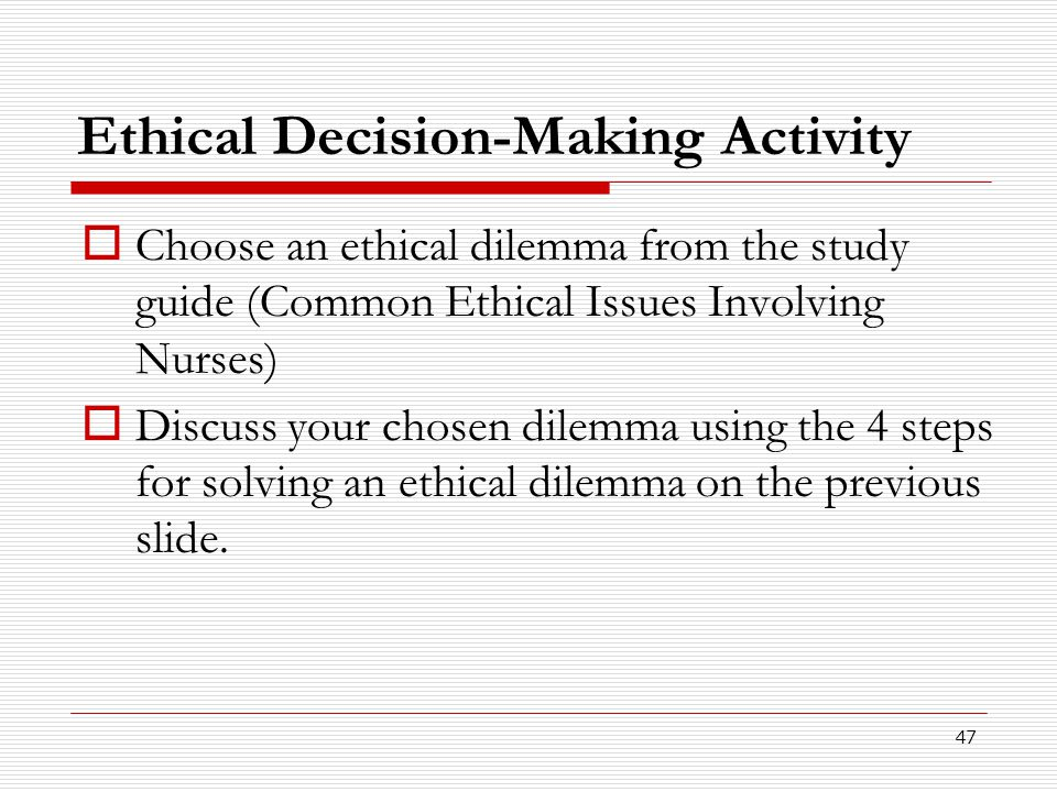 Ethical Decision-Making Activity
