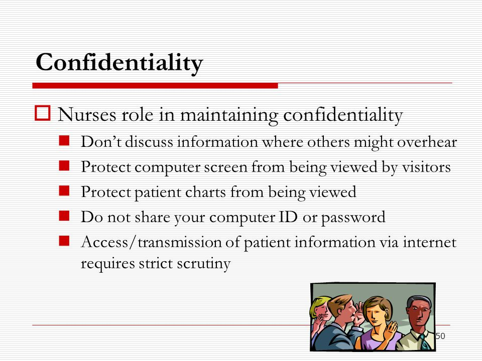 Confidentiality Nurses role in maintaining confidentiality