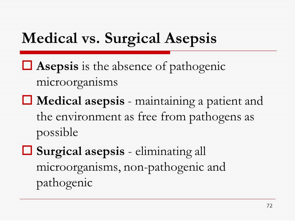 Medical vs. Surgical Asepsis