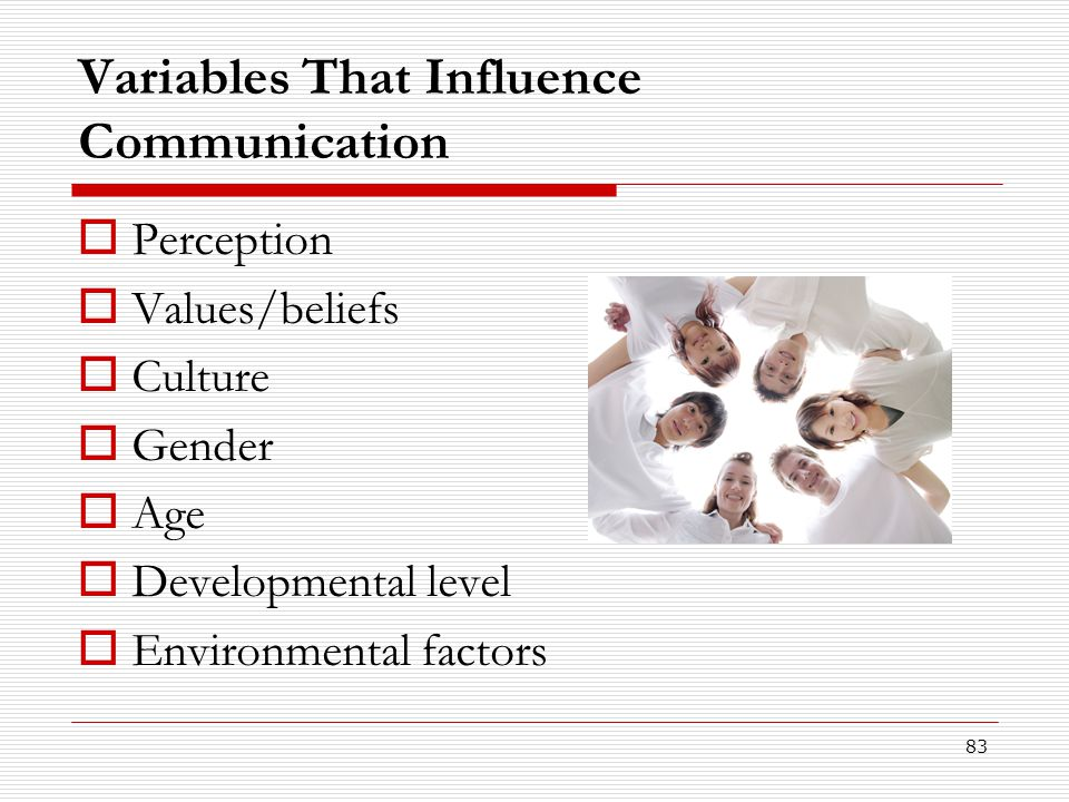 Variables That Influence Communication