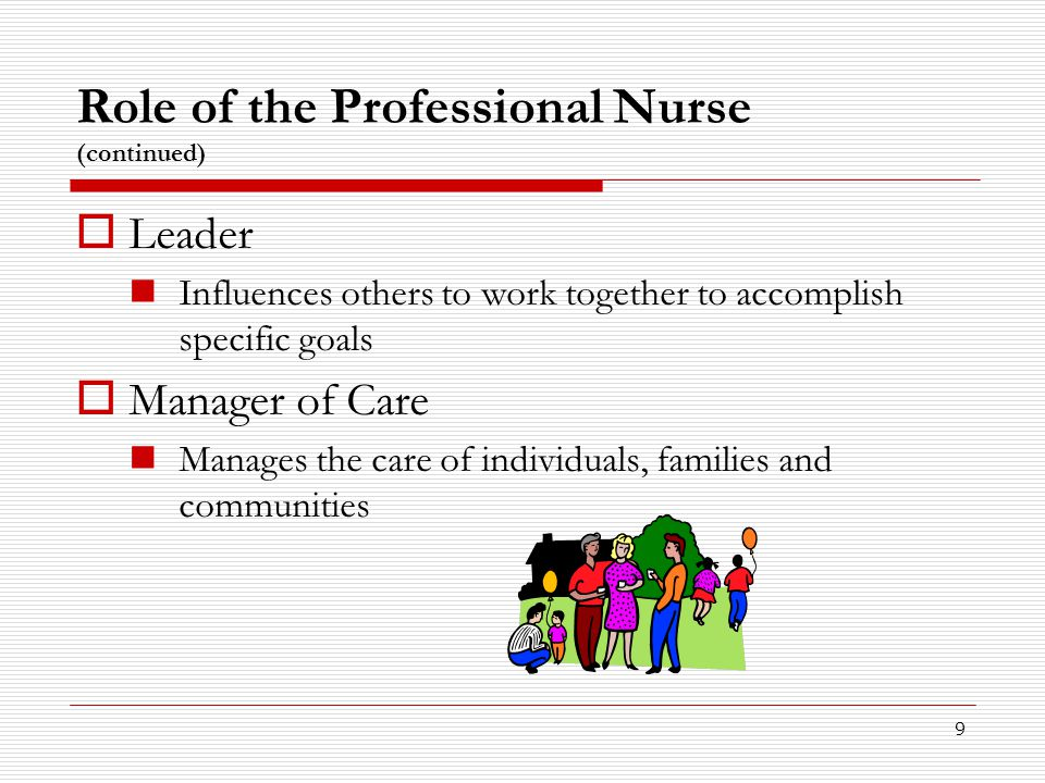 Role of the Professional Nurse (continued)