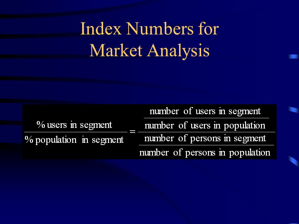 Index Numbers for Market Analysis