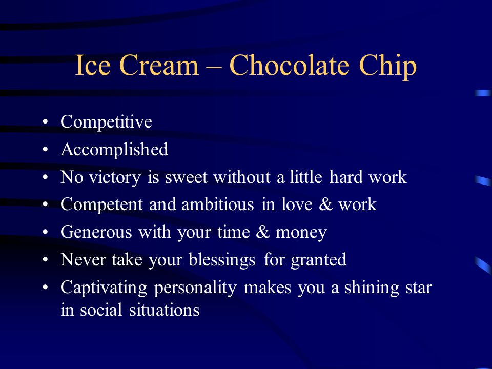 Ice Cream – Chocolate Chip