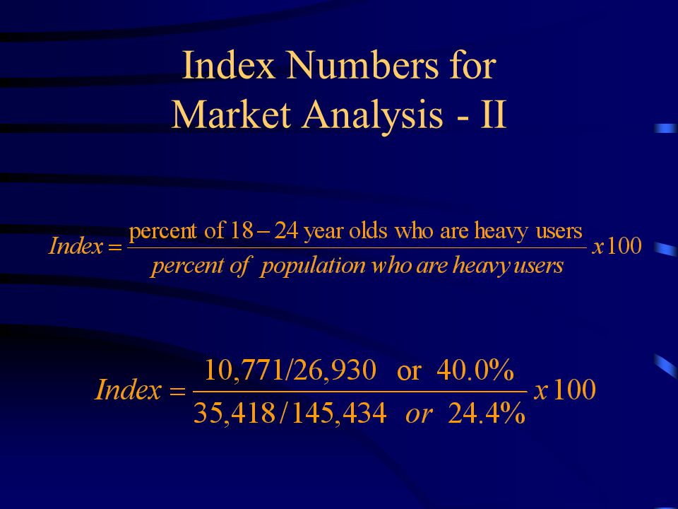 Index Numbers for Market Analysis - II