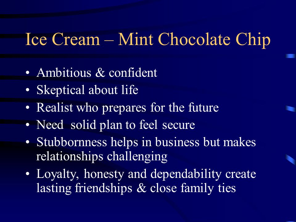 Ice Cream – Mint Chocolate Chip