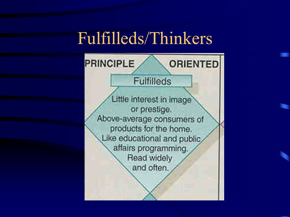 Fulfilleds/Thinkers