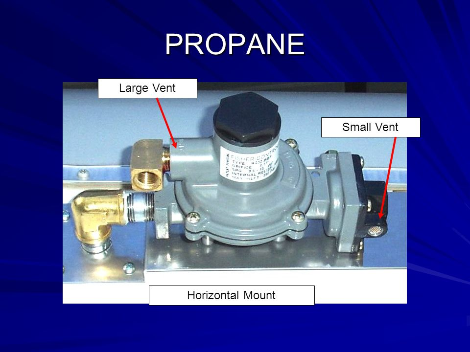 PROPANE Large Vent Small Vent Horizontal Mount