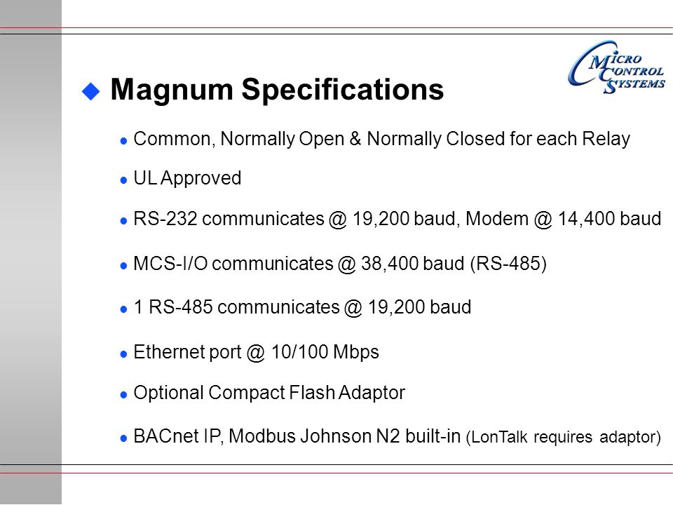 Magnum Specifications