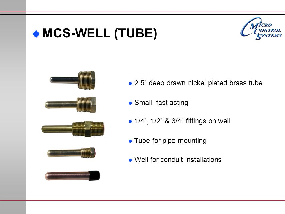 MCS-WELL (TUBE) 2.5 deep drawn nickel plated brass tube