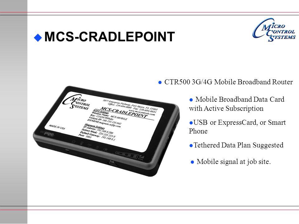 MCS-CRADLEPOINT CTR500 3G/4G Mobile Broadband Router