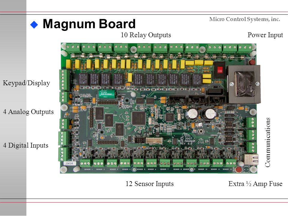 Magnum Board 10 Relay Outputs Power Input Keypad/Display