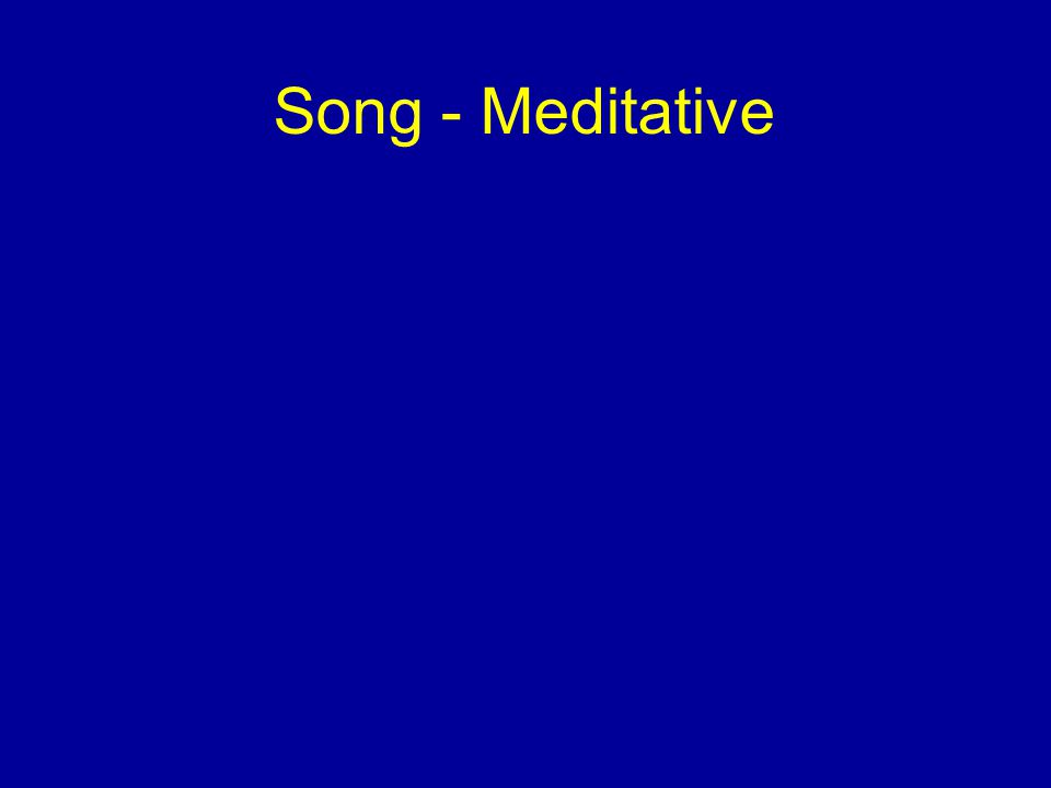 Song - Meditative
