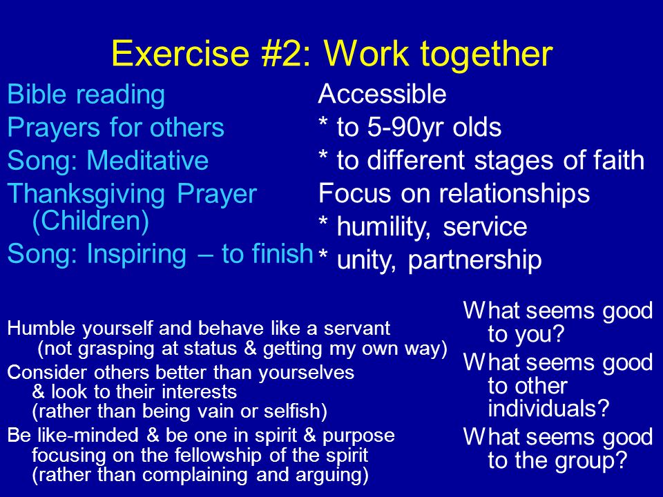 Exercise #2: Work together