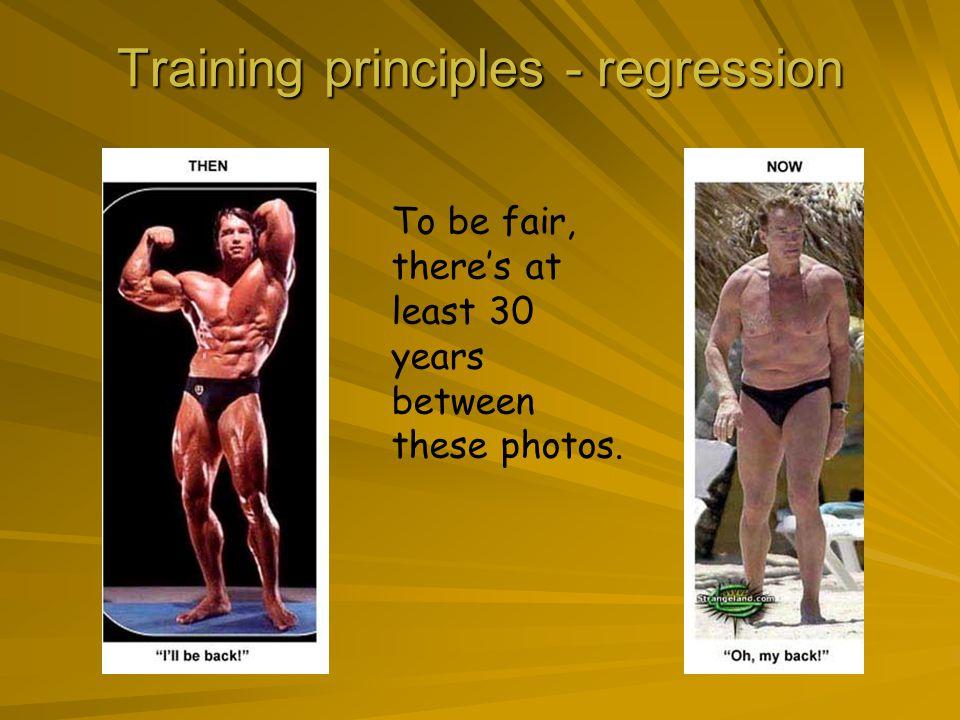 Training principles - regression