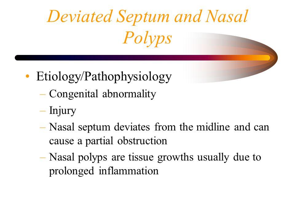 Deviated Septum and Nasal Polyps