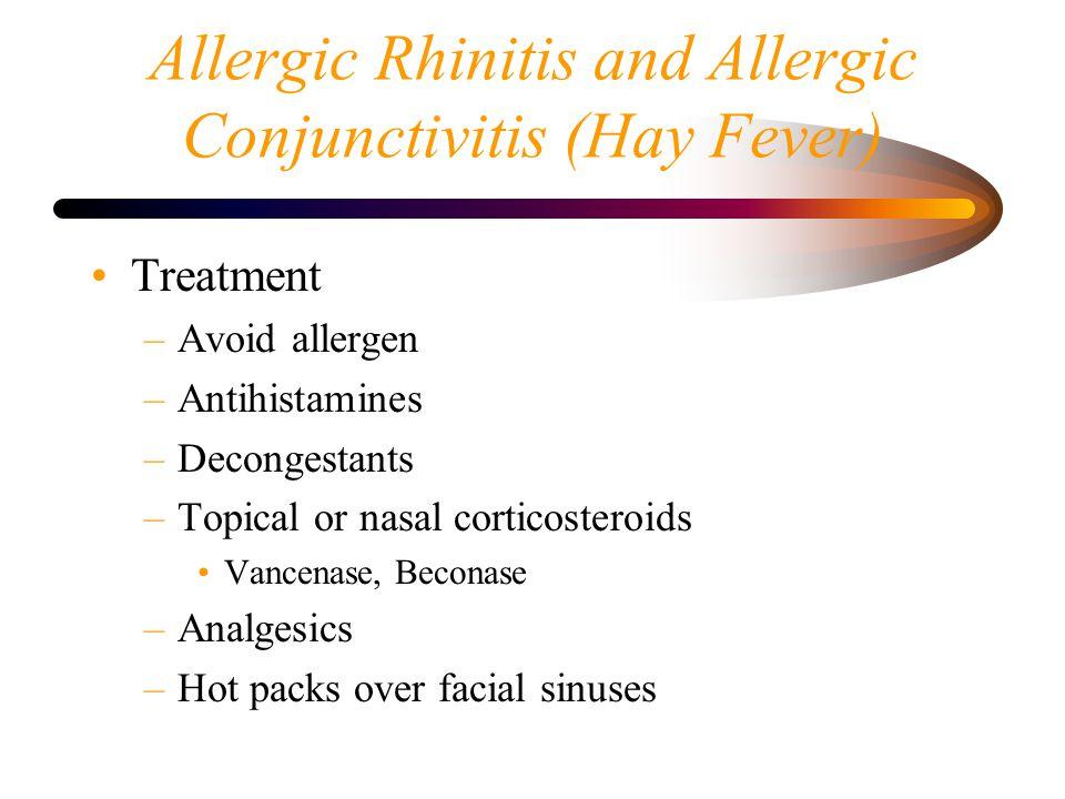 Allergic Rhinitis and Allergic Conjunctivitis (Hay Fever)