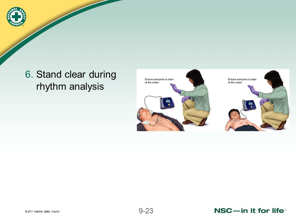 Stand clear during rhythm analysis