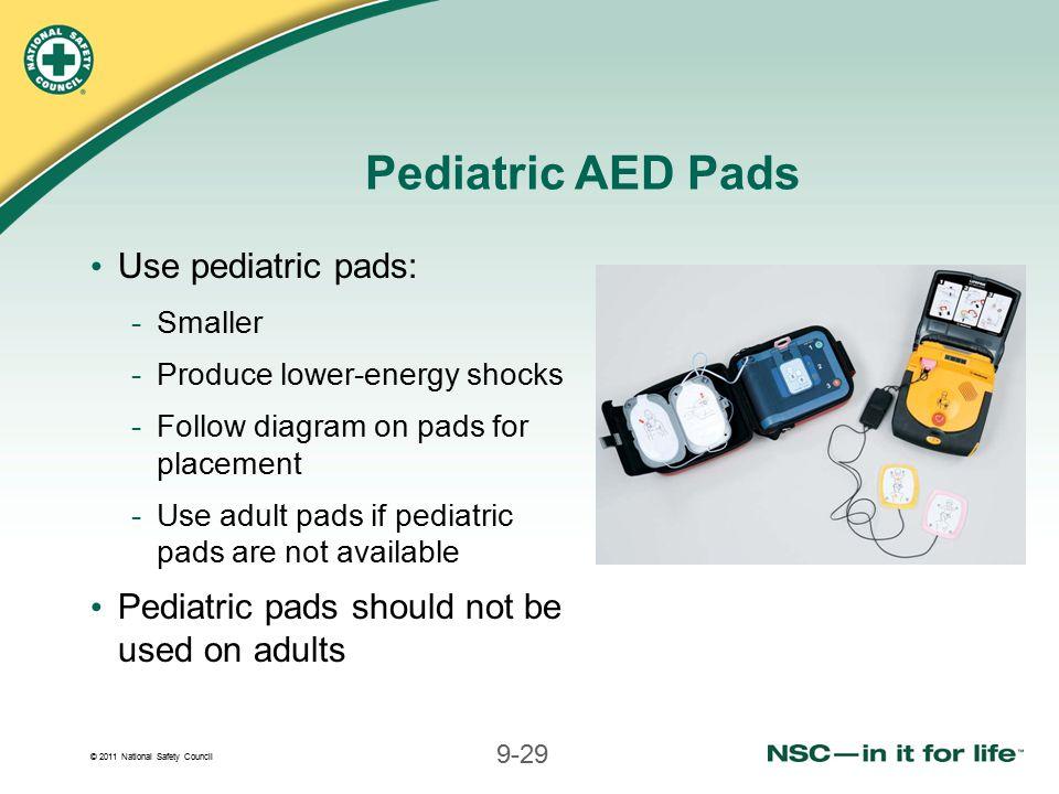 Pediatric AED Pads Use pediatric pads: