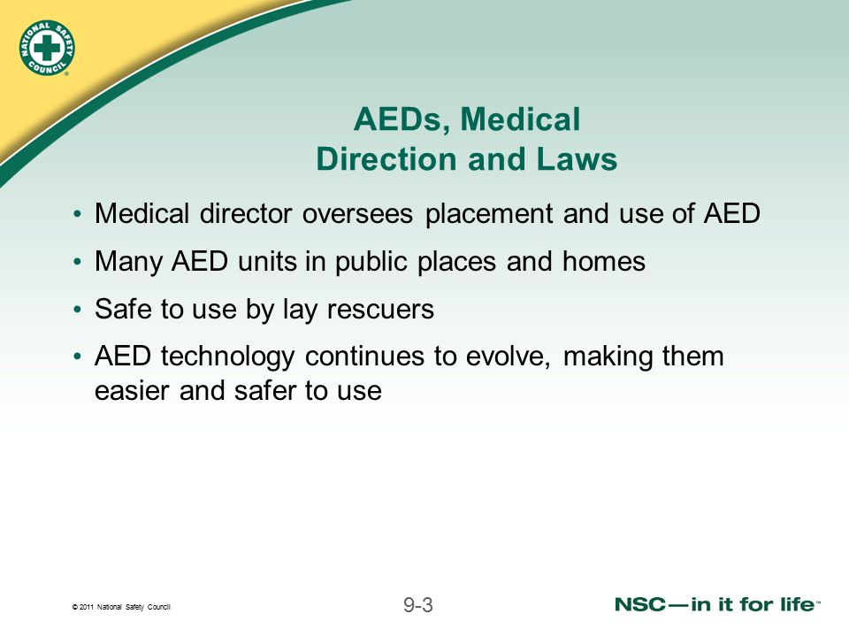 AEDs, Medical Direction and Laws