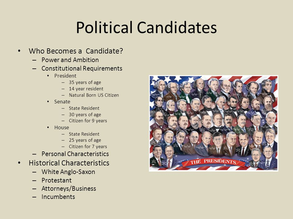 Political Candidates Who Becomes a Candidate