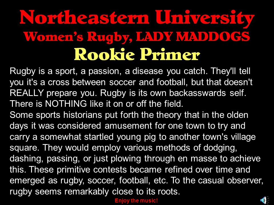 Rugby is a sport, a passion, a disease you catch