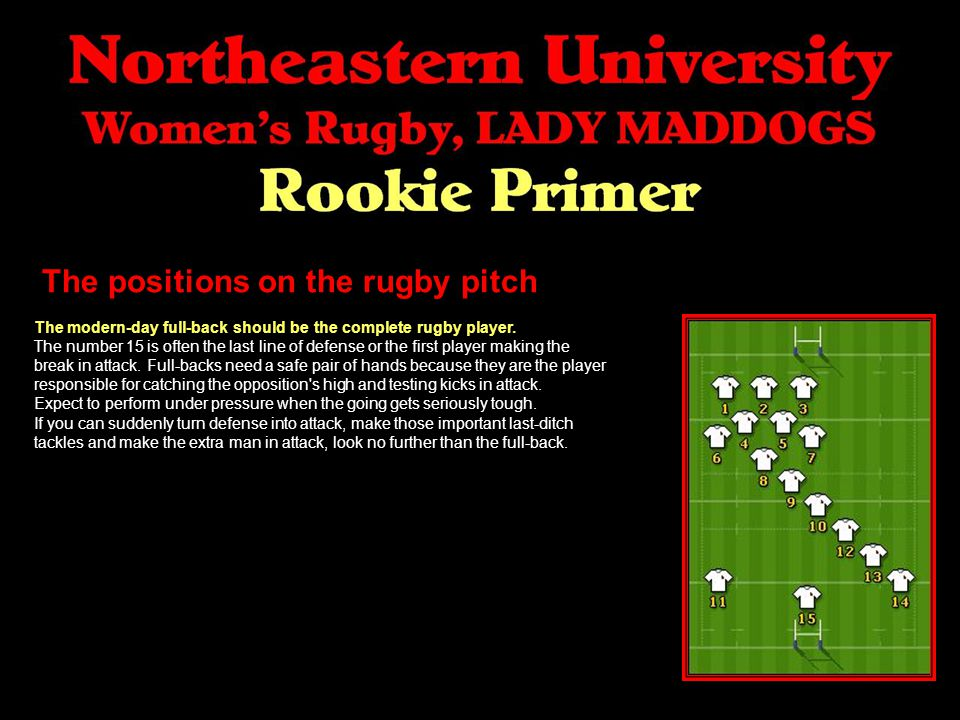 The positions on the rugby pitch